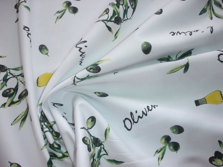 1 lfm stoff 2 90 m f r sch rzen tischdecken oliven g15. Black Bedroom Furniture Sets. Home Design Ideas